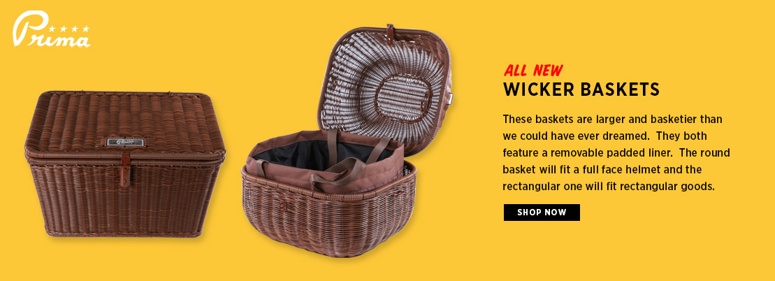 Prima Rear Wicker Baskets