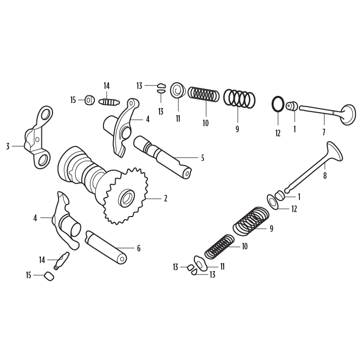GY6 CAMSHAFT AND VALVE