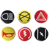 "Scooter Buttons (6pk, 1"", Series 3, Button Buttons)"