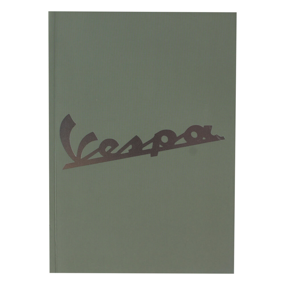 "Notebook (Vespa Logo, Green, 6"" x 8"")"