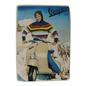 Mini Tin Sign (Vespa, Alpine Lady, 6