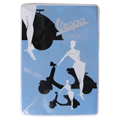 Mini Tin Sign (Vespa, Blue Silhouette, 6