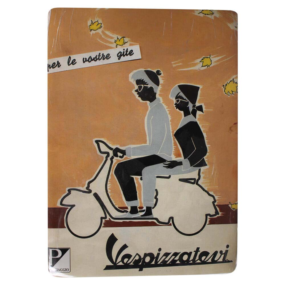 "Mini Tin Sign (Vespa, Vespizzatevi, 6"" x 8"")"