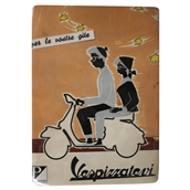 Mini Tin Sign (Vespa, Vespizzatevi, 6