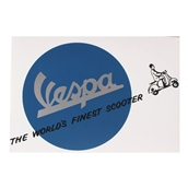 "Greeting Card (Vespa, World's Finest Scooter, 4"" x 6"")"