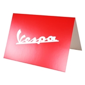 "Greeting Card (Red Vespa Script, 4"" x 6"")"