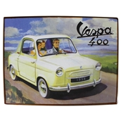Tin Sign (Vespa 400 Car, 14