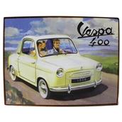 Tin Sign (Vespa 400 Car, 14