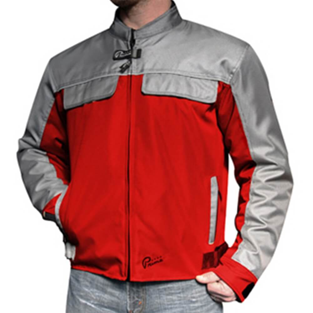 Prima Riding Jacket (Pullman, Red/Gray)