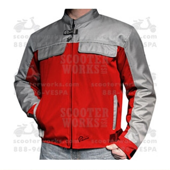 "Prima Riding Jacket (Pullman, ""D"", Red/Gray)"
