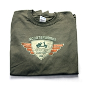 Long Sleeve T-Shirt (Scooterworks Vintage, Olive)S