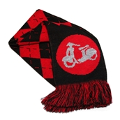 Scooter Hooligan Scarf (Red Argyle)