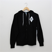 Hoodie (Biker, Black, zip-up)S