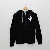 Hoodie (Biker, Black, zip-up)S