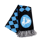 Scooter Hooligan Scarf (Blue Argyle)S