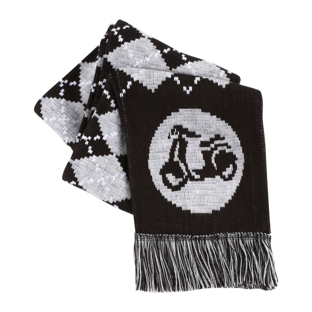 Scooter Hooligan Scarf (Gray Argyle)