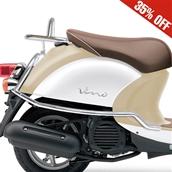 Prima Rear Rack (Chrome); Yamaha Vino 50 4TS