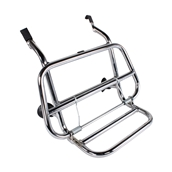 Cuppini Chrome Front Rack; Vespa Primavera and SprintS
