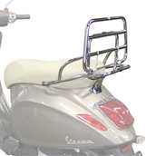 Cuppini Chrome Folding Rear Rack; Vespa Primavera and SprintS