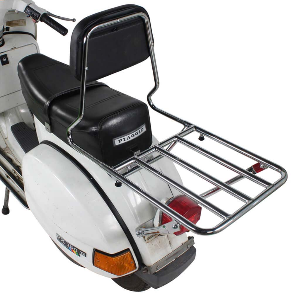 Prima BBQ Rear Rack (w/ Backrest); Vespa P Series, Stella
