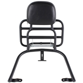 Prima Rear Rack (Backrest, Black); Vespa GTSS