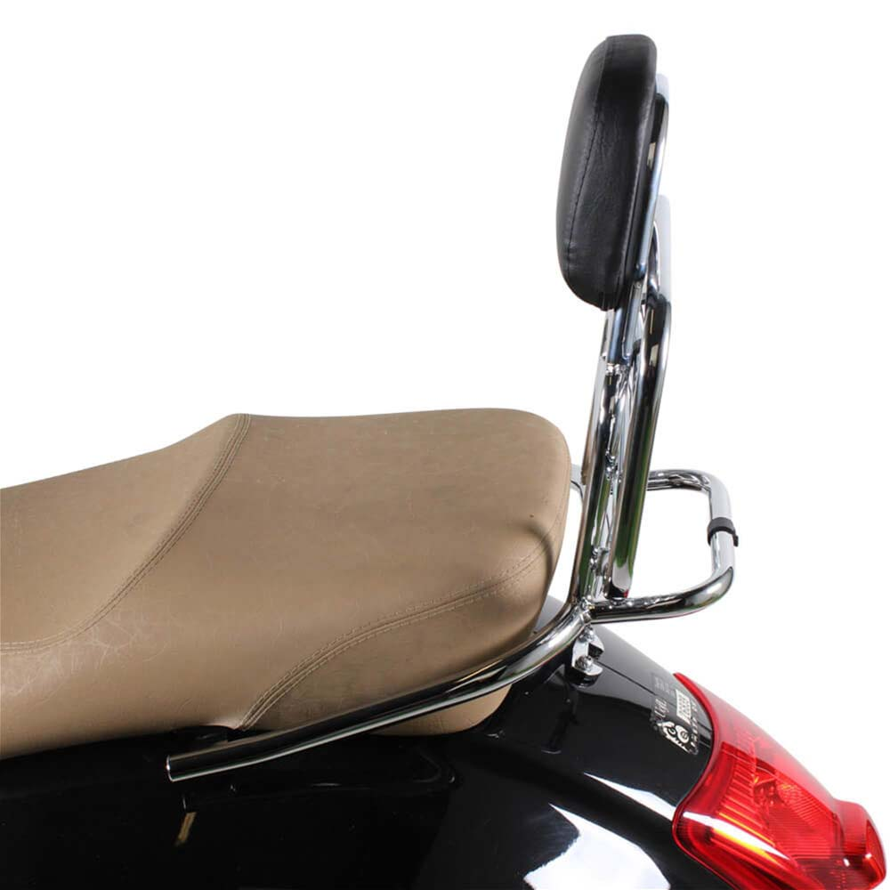 Prima Rear Rack on a Vespa GTS Scooter Side View