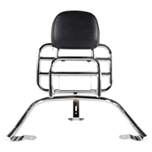 Prima Rear Rack (Backrest, Chrome); Vespa GTS