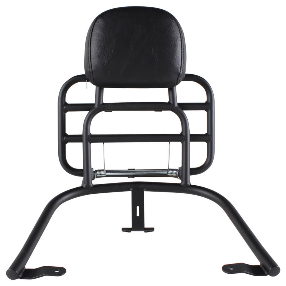 Prima Rear Rack (Backrest, Black); Vespa Primavera, Sprint