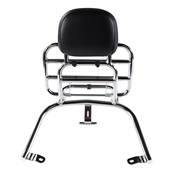 Prima Rear Rack (Backrest,Chome); Vespa LX50 and 150S
