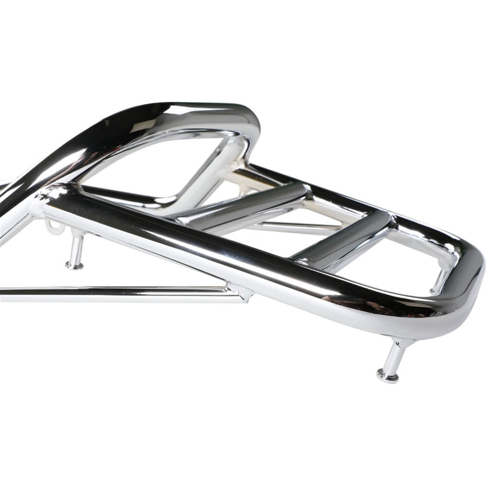 Prima Rear Rack  Chrome   Genuine G400c Scooterworks Usa