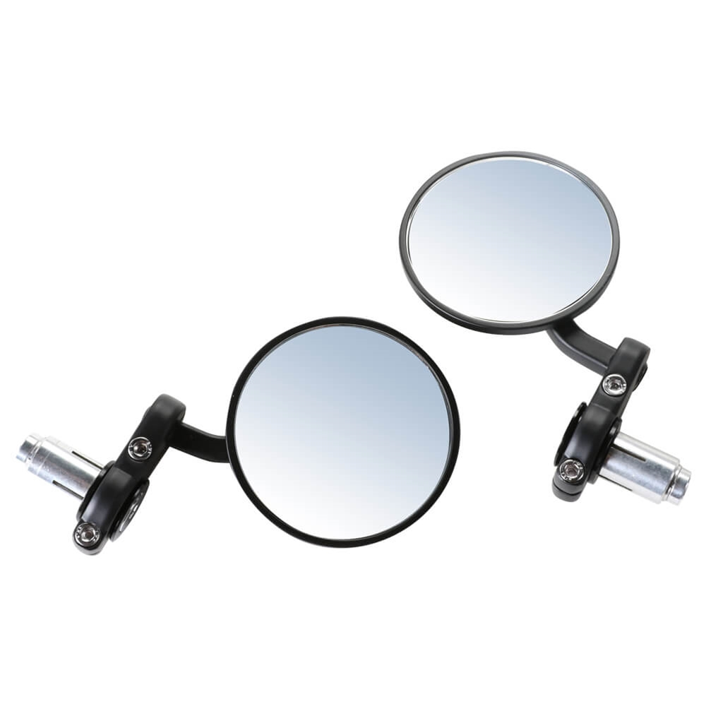 Prima Billet Bar End Mirror Set (Black); G400C