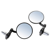 Prima Billet Bar End Mirror Set (Black); G400C, Royal AlloyS