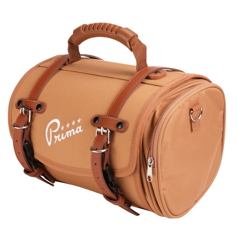 Prima Brown Duffel Bag on a Scooter