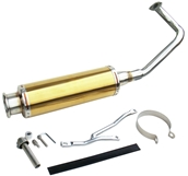 NCY Performance Exhaust (Stainless, Gold); QMB139