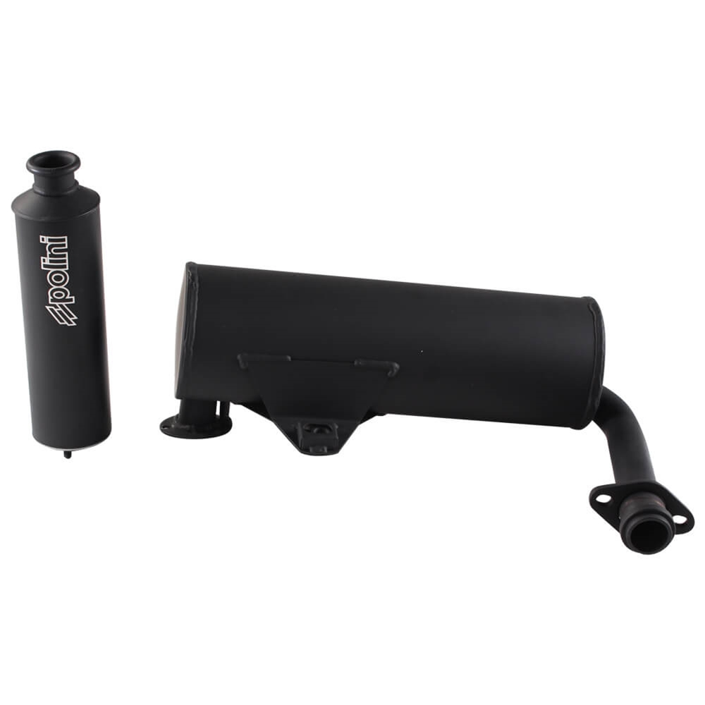 Polini Performance Exhaust (Black); LML Star 200