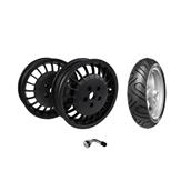 2 Tires, 2 Sport Rims, 2 Valve Stems; Vespa GTSS