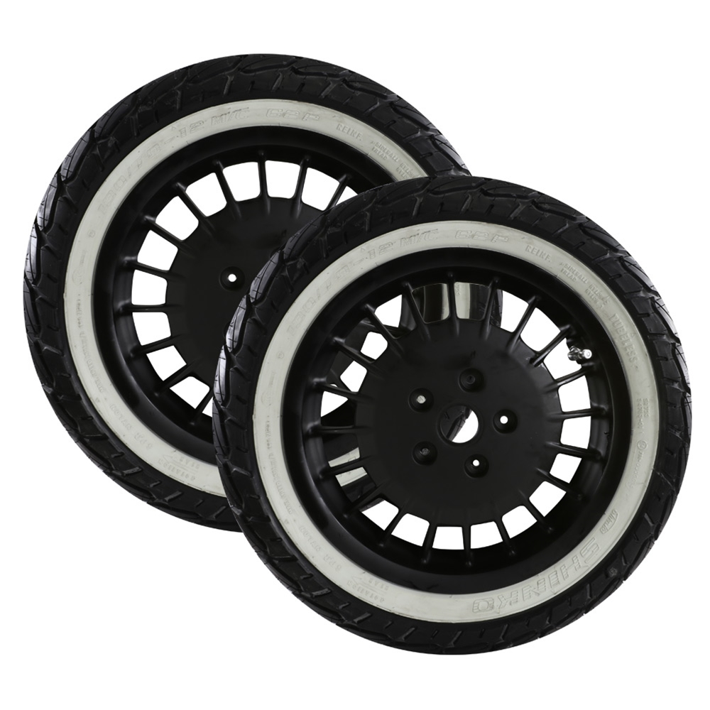 Mounted Tires and Rims (Shinko Whitewall); Vespa GTS