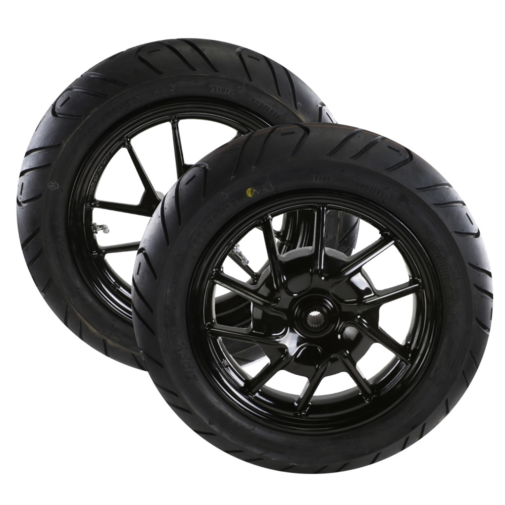 Mounted Tires (NCY Rims, Continental Zippy 1); Zuma 125