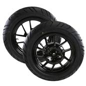 Mounted Tires (NCY Rims, Continental Zippy 1); Zuma 125S
