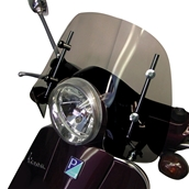 Prima Windshield (Short, Smoked); Vespa LX,GT,GTS