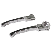 NCY Folding Levers (Drum Type, Silver); Honda, Yamaha, PuchS