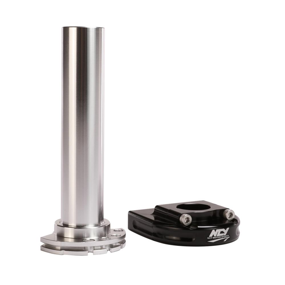Cam Tube ncy throttle tube (alloy, orange, cam type, 7/8