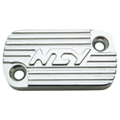NCY Master Cylinder Cover (Silver, Raised); Honda-styleS