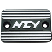 NCY Master Cylinder Cover (Black, Raised); Genuine, YamahaS