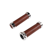 NCY Simulated Leather Grip Set (Brown); Universal 7/8