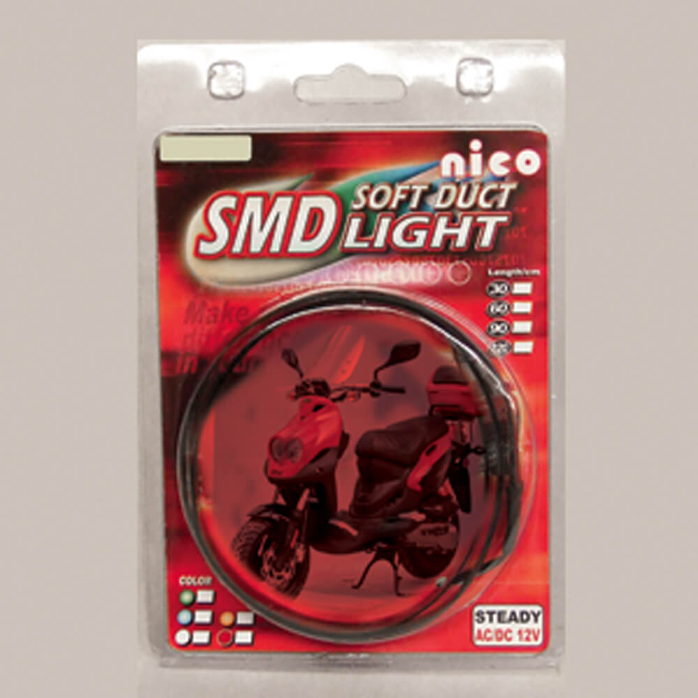 SMD Bright LED Strip (Red, 60 CM); Universal Fit