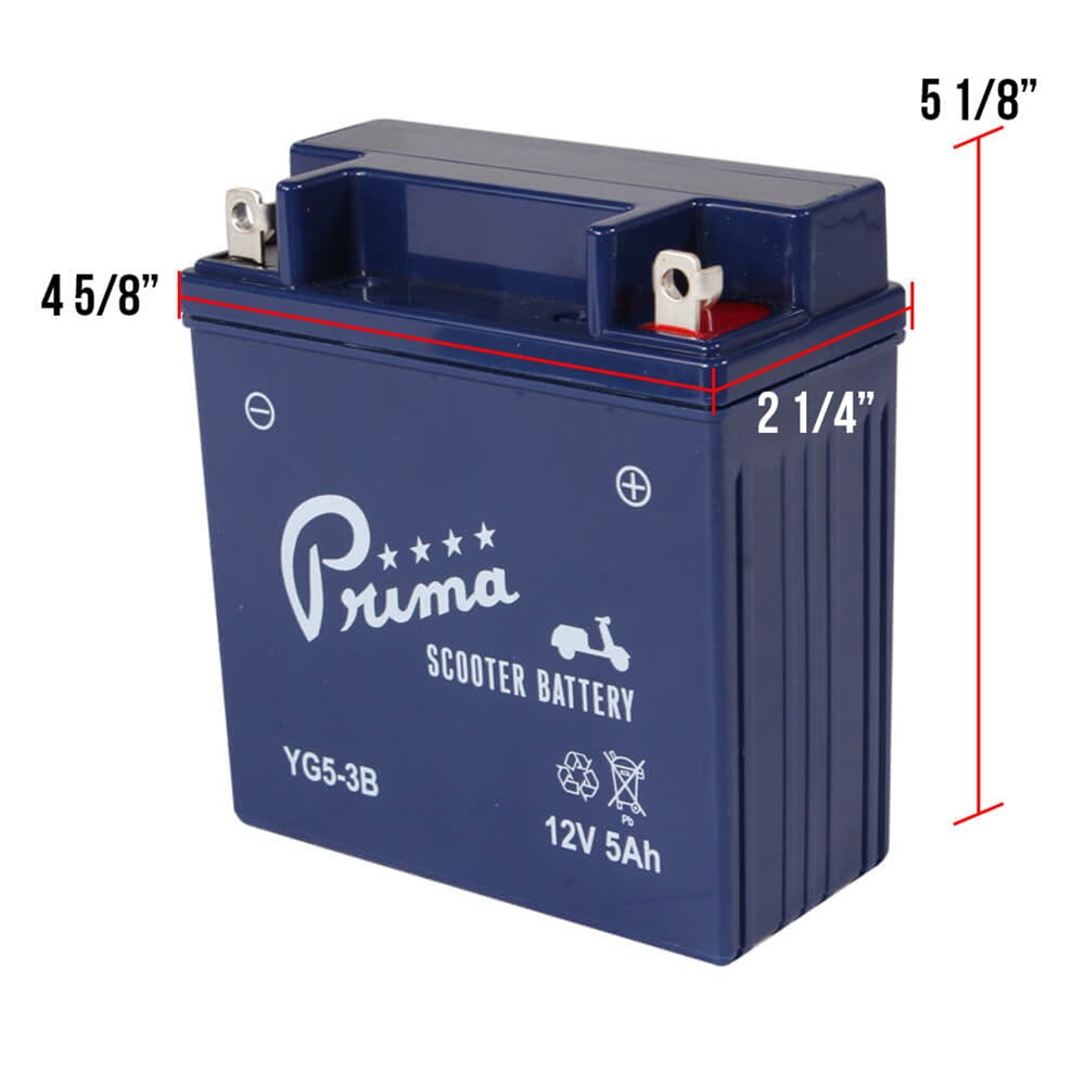Prima Battery (YG5-3B); Genuine Stella Auto