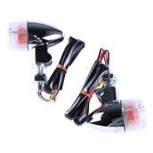 Turn Signal Pair (Chrome, Mini Bullet, Clear Lens);G400C