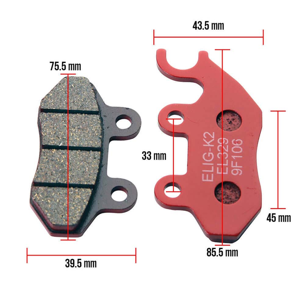 Genuine Buddy Brake Pads Dimensions