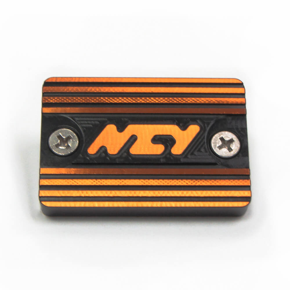 NCY Master Cylinder Cover (Orange); Yamaha